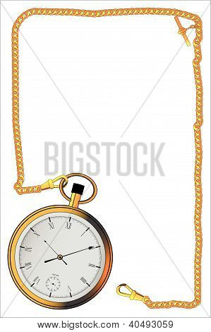 Gold Watch And Chain