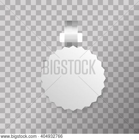 Wobblers For Sale. White Blank Advertising Wobblers Isolated On Transparent Background.