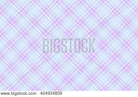 Pink Lilac Blue Lavender Vintage Checkered Background. Space For Graphic Design. Checkered Texture.
