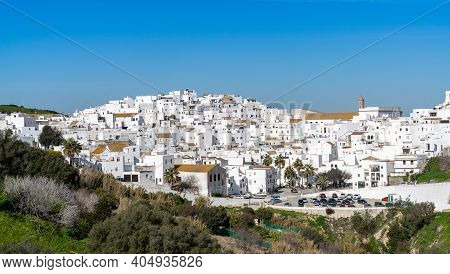 The Historic Whitewashed Andalusian Village Of Vejer De La Frontera