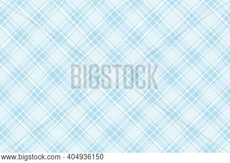 Light Blue White Pastel Vintage Checkered Background. Space For Graphic Design. Checkered Texture. C