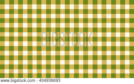 Yellow White Green Olive Vintage Checkered Background. Space For Graphic Design. Checkered Texture.
