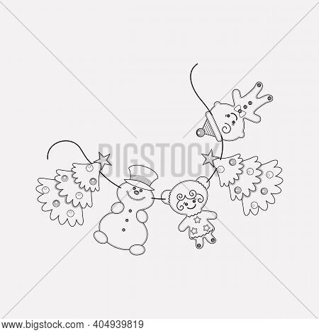 Paper Garland Icon Line Element. Vector Illustration Of Paper Garland Icon Line Isolated On Clean Ba