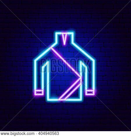 Diving Shirt Neon Sign. Vector Illustration Of Scuba Dive Promotion.