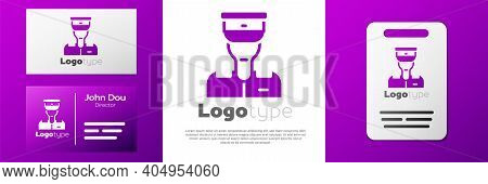 Logotype Train Conductor Icon Isolated On White Background. Logo Design Template Element. Vector