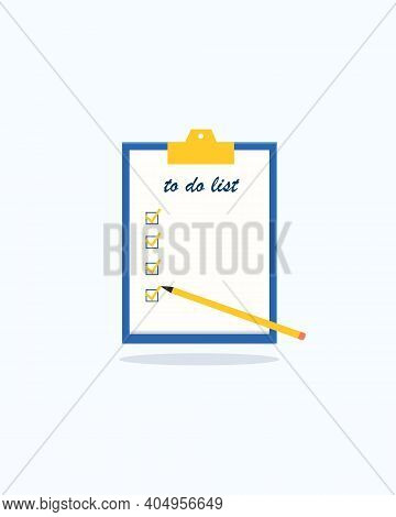 To Do List Or Planning Concept. All Tasks Are Done. Bucket List. Task Management. List Of Goals. Pap