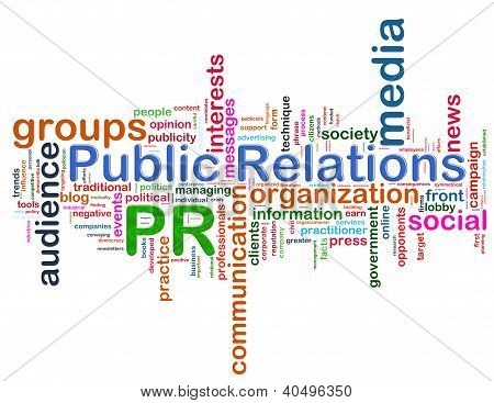 Public Relations Word Tags