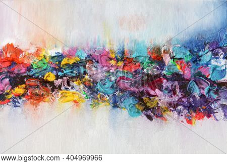Art Abstract flow acrylic and watercolor smear blot painting. Color texture background.