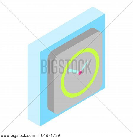 Stylish Clock Icon. Isometric Illustration Of Stylish Clock Vector Icon For Web