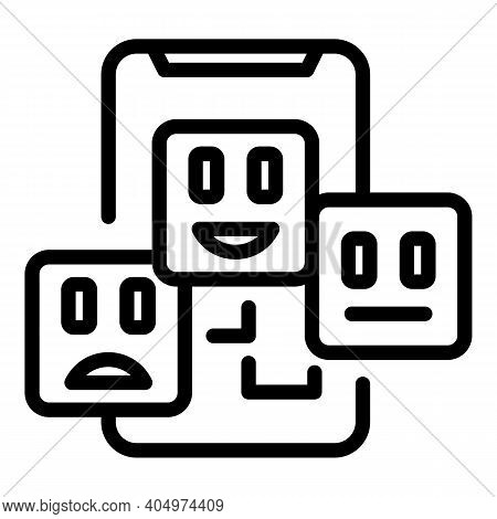 Agent Scheme Phone Icon. Outline Agent Scheme Phone Vector Icon For Web Design Isolated On White Bac