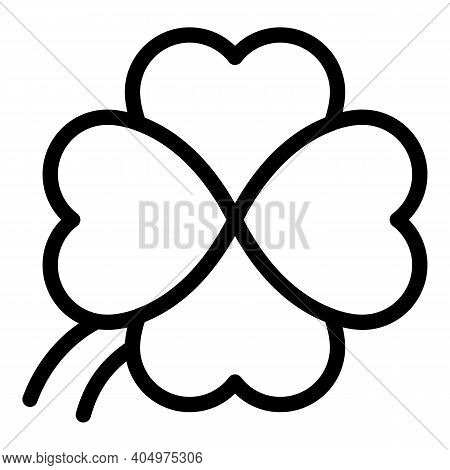Clover Plant Icon. Outline Clover Plant Vector Icon For Web Design Isolated On White Background