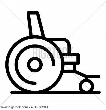 Rehabilitation Wheelchair Icon. Outline Rehabilitation Wheelchair Vector Icon For Web Design Isolate