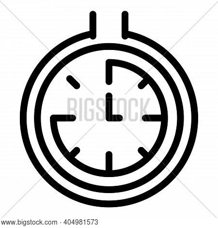 Slimming Time Icon. Outline Slimming Time Vector Icon For Web Design Isolated On White Background