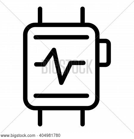 Smartwatch Slimming Icon. Outline Smartwatch Slimming Vector Icon For Web Design Isolated On White B