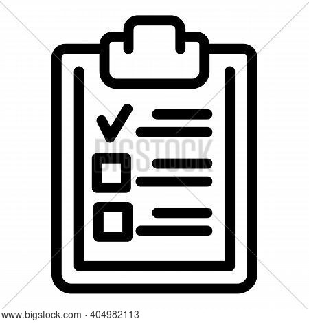 Slimming To Do List Icon. Outline Slimming To Do List Vector Icon For Web Design Isolated On White B