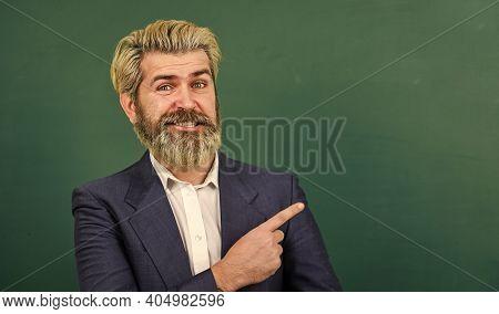 Teacher Explain Topic. Take Placement Test. Teacher Wanted. Teachers Enlighten Path Of Success. Man