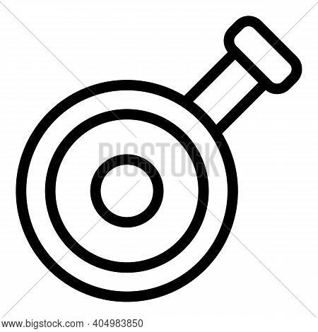 Chinese Wok Frying Pan Icon. Outline Chinese Wok Frying Pan Vector Icon For Web Design Isolated On W