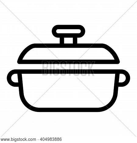 Restaurant Wok Frying Pan Icon. Outline Restaurant Wok Frying Pan Vector Icon For Web Design Isolate