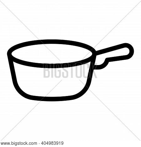 Dinner Wok Frying Pan Icon. Outline Dinner Wok Frying Pan Vector Icon For Web Design Isolated On Whi