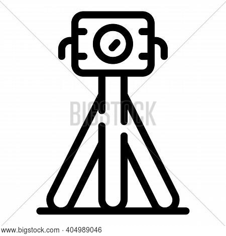 Surveyor Road Icon. Outline Surveyor Road Vector Icon For Web Design Isolated On White Background