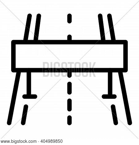Highway Barrier Icon. Outline Highway Barrier Vector Icon For Web Design Isolated On White Backgroun