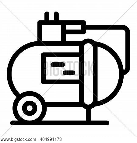 Cylinder Compressor Icon. Outline Cylinder Compressor Vector Icon For Web Design Isolated On White B