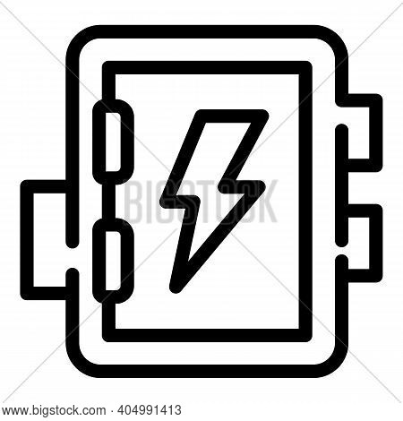 Electric Junction Box Icon. Outline Electric Junction Box Vector Icon For Web Design Isolated On Whi