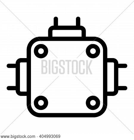 Tool Junction Box Icon. Outline Tool Junction Box Vector Icon For Web Design Isolated On White Backg