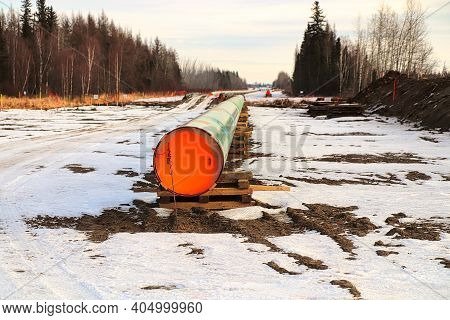 The End Of A Pipeline With Nobody Working On It