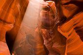 Upper Antelope Slot Canyon Sunbeam Page Arizona poster