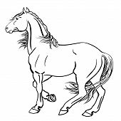 Vector illustration of a strong punch horse poster