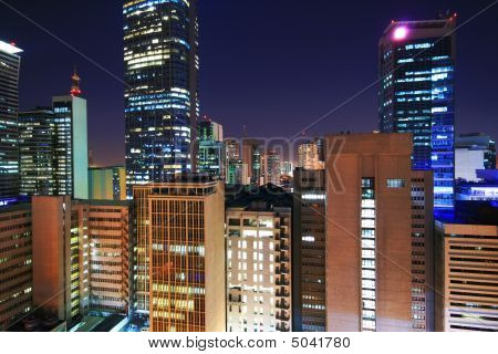 City Of Makati At Night