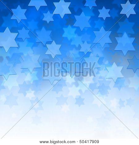 Background With Magen David Stars