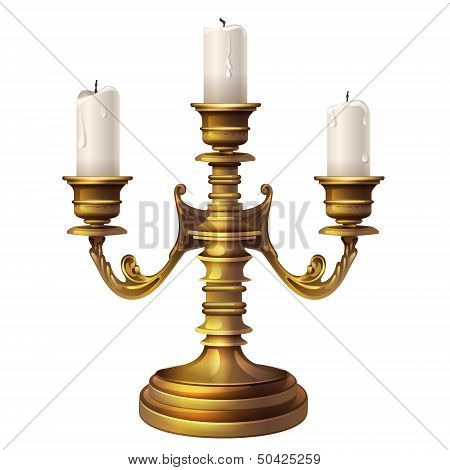 Candlestick And Three Candles