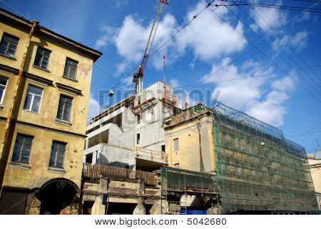 Construction site in old city