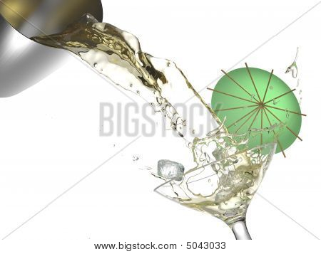 Cocktail Splash Isolated