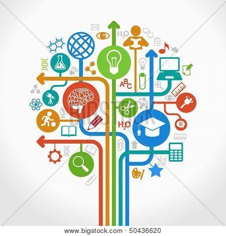 abstrakte Struktur mit Symbolen. Vektor-Bildung und Wissenschaft-Konzept.