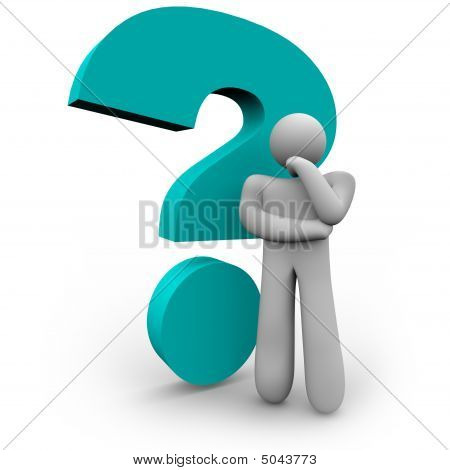 Question Mark And Thinker