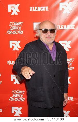 """LOS ANGELES - SEP 3:  Danny DeVito at the FXX Network Launch Party And Premieres For """"It's Always Sunny In Philadelphia"""" And """"The League"""" at the Lure on September 3, 2013 in Los Angeles, CA"""