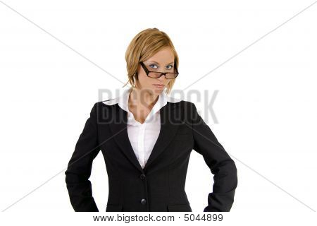 Tough Blond Business Woman