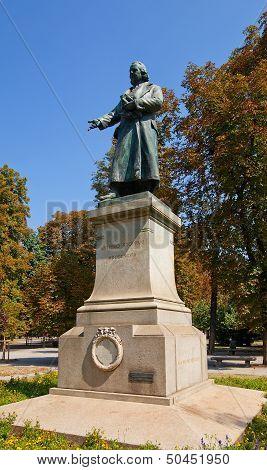 Monument (1898) To Antonio Stoppani. Milan, Italy