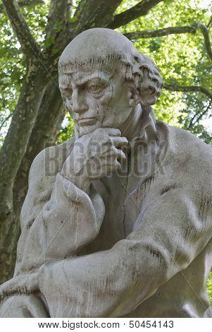 Paracelsus Monument In Salzburg