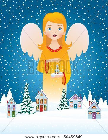 Blessing Of Christmas Angel