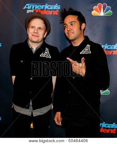 NEW YORK-SEP 4: Patrick Stump (left) and Pete Wentz of Fall Out Boy attend the post-show red carpet for NBC's