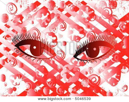 Graffiti Girl Eyes