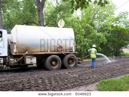 Preparing Road That Is To Be Built