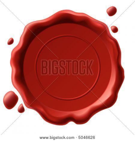 Wax Seal. Vector.