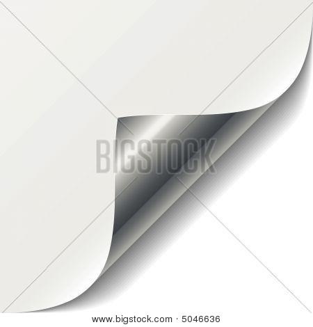 White Page Corner. Vector.