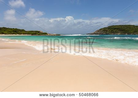 Beautiful Golden Sandy Beach At Half Moon Bay Antigua