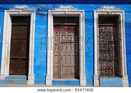 Doorways in Sancti Spiritus, Cuba